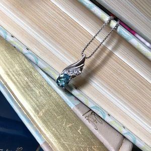 1.5 carat London Blue Topaz pendant